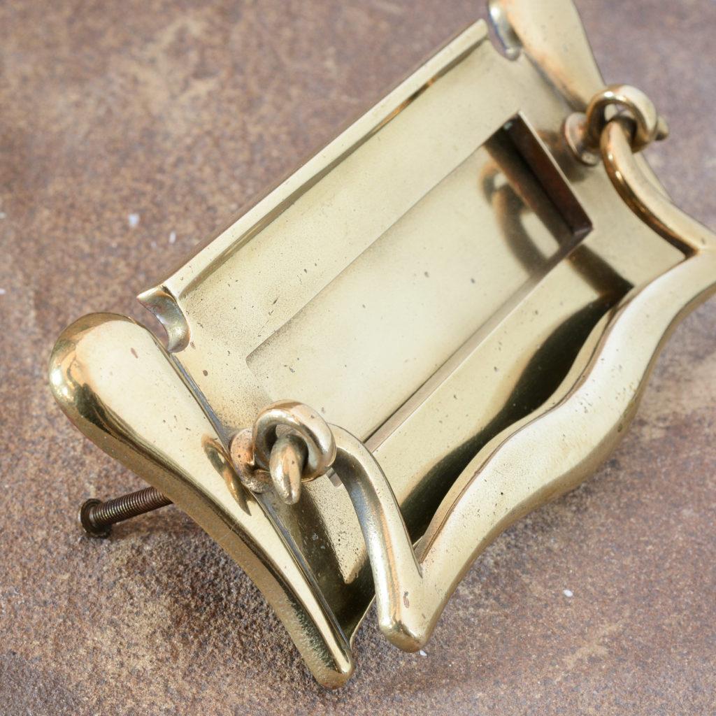 Edwardian brass letterplate,-108753