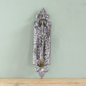 Iron gothic vertical letterplate,-0