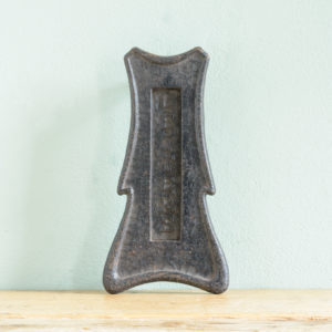 Edwardian cast iron letterplate,-0
