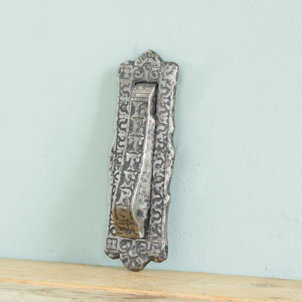 Late Victorian cast iron letterplate,-108722