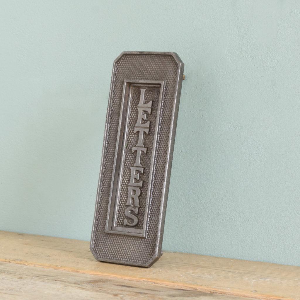 Victorian cast iron letterplate, -108694