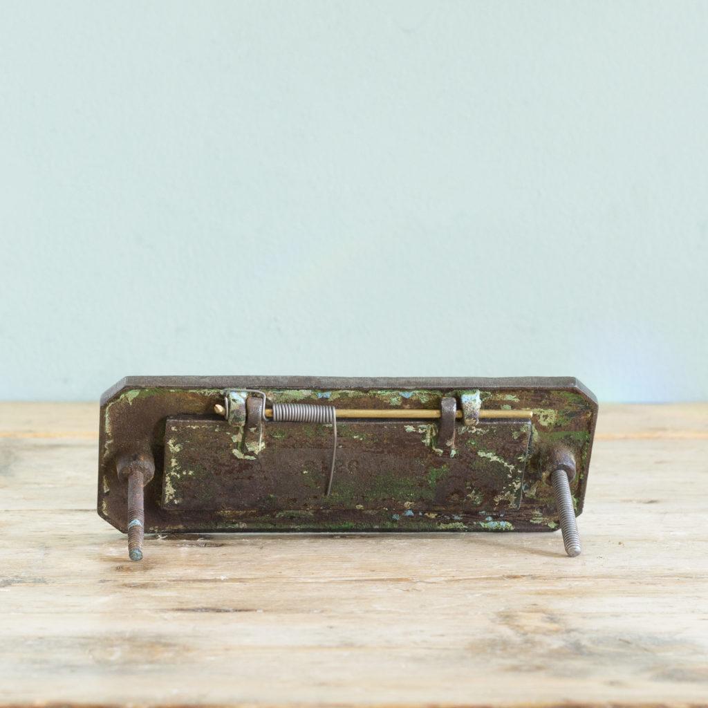 Victorian cast iron letterplate, -108693