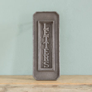 Victorian cast iron letterplate, -0