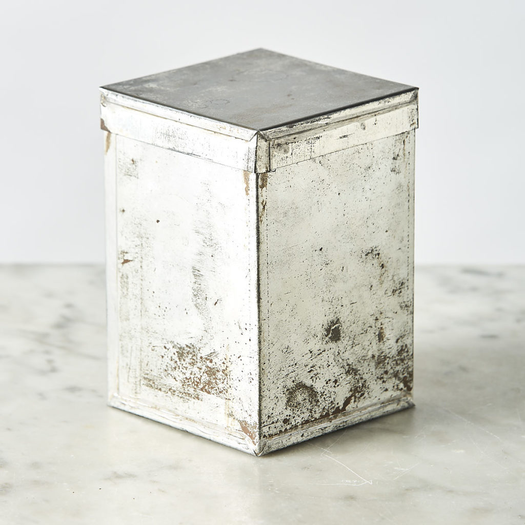 Tin Indian tea caddy, -108924