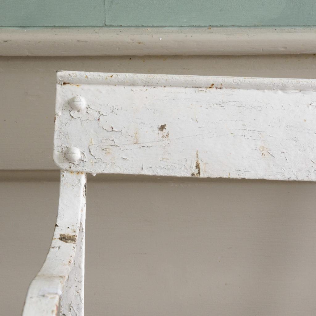 Late nineteenth century wrought iron rocking chair,-109505