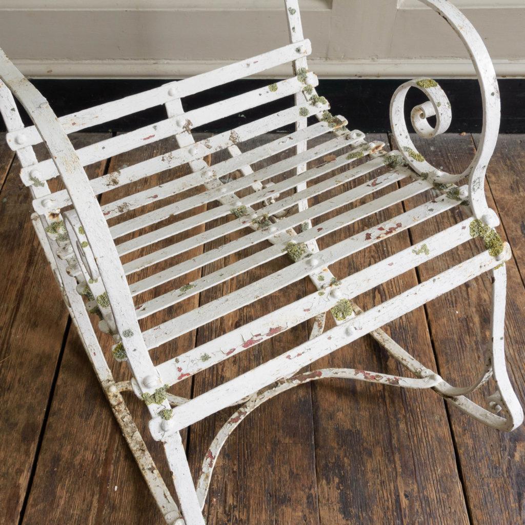 Late nineteenth century wrought iron rocking chair,-109500
