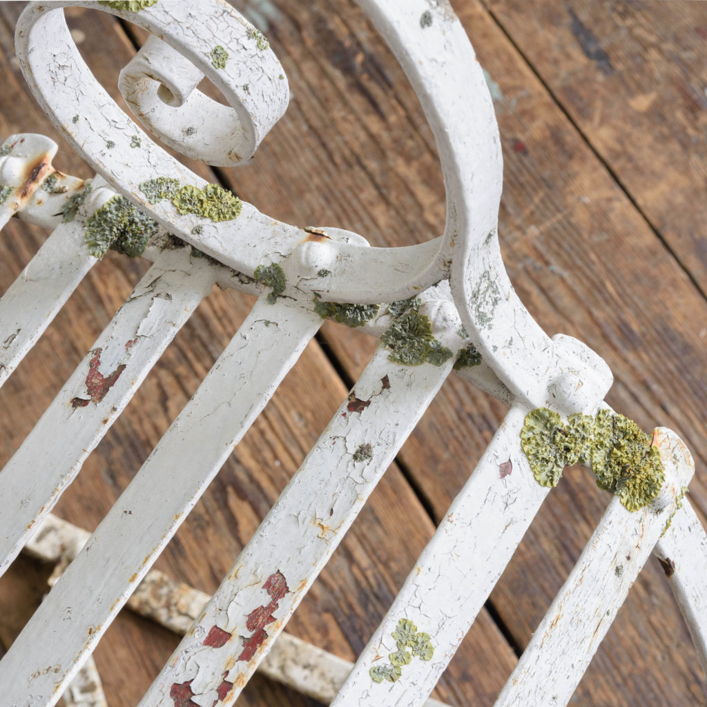 Late nineteenth century wrought iron rocking chair,-109501
