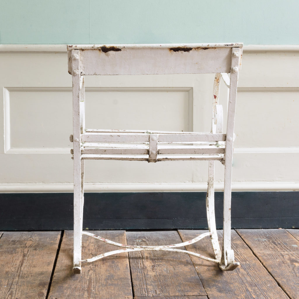 Late nineteenth century wrought iron rocking chair,-109503
