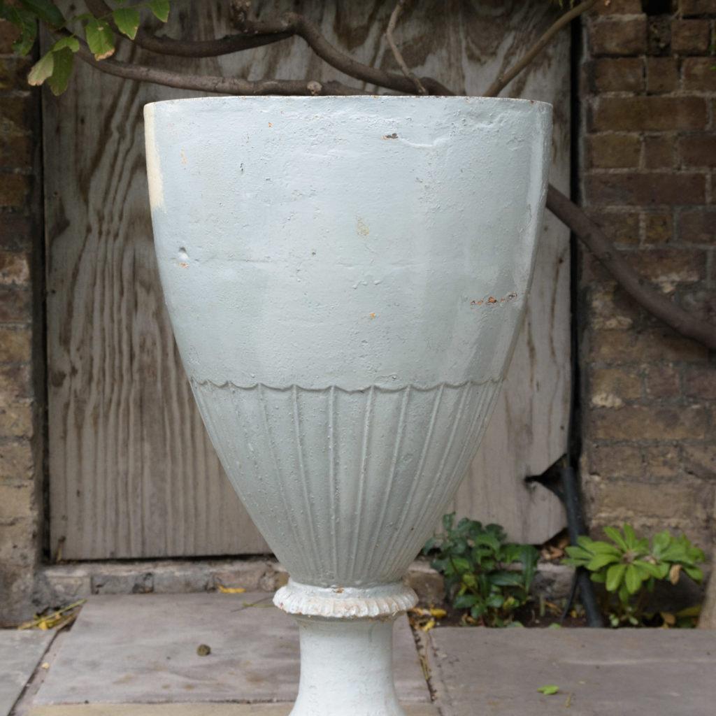 Large pair of cast iron garden urns, -109570
