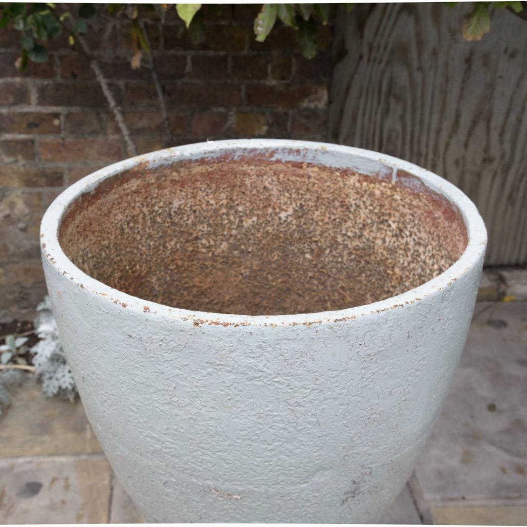 Large pair of cast iron garden urns, -109567