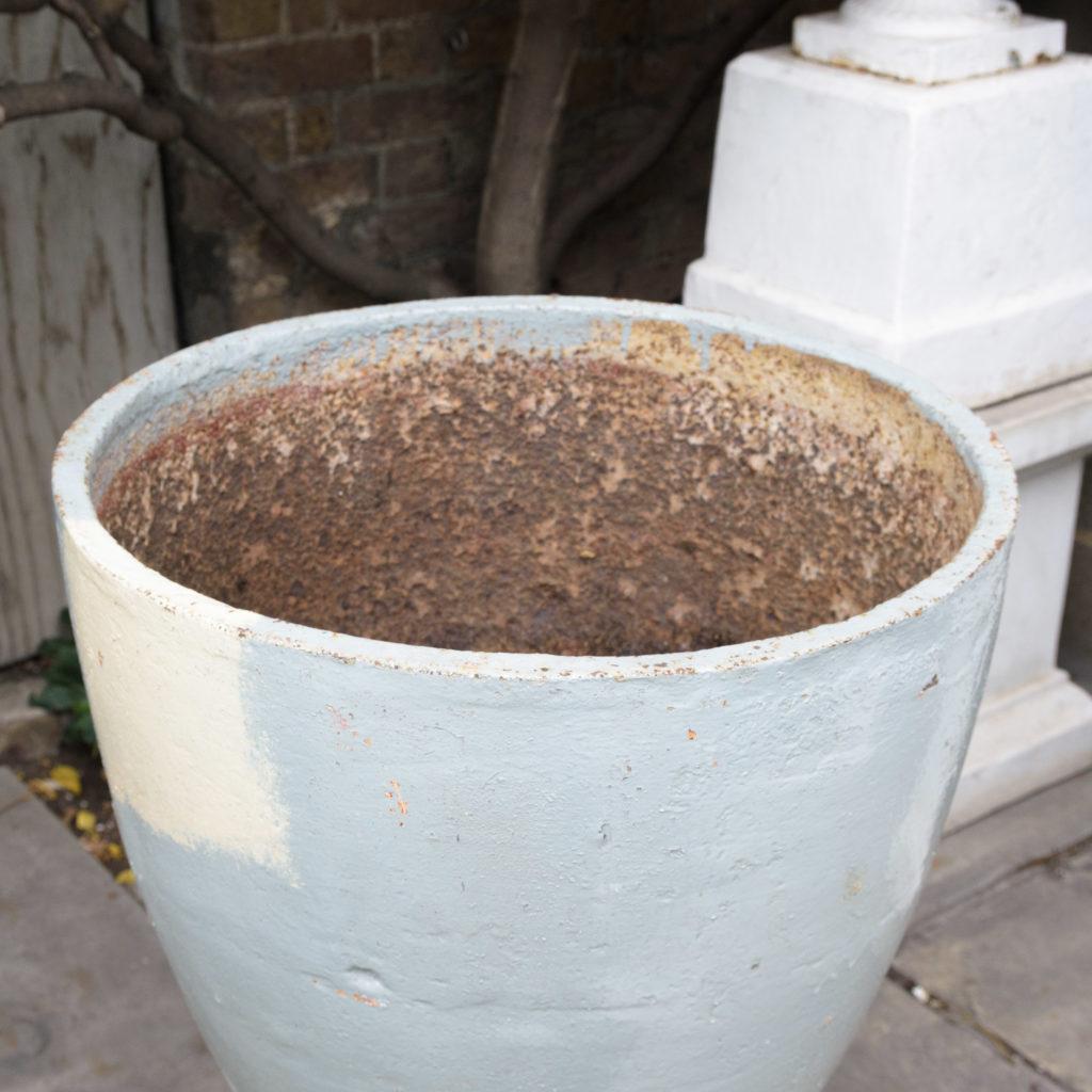 Large pair of cast iron garden urns, -109572