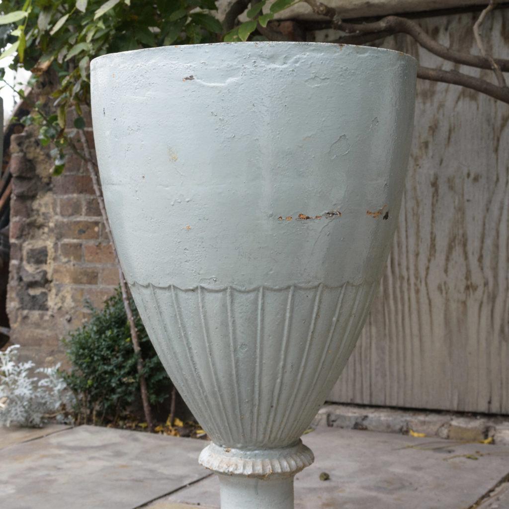 Large pair of cast iron garden urns, -109573