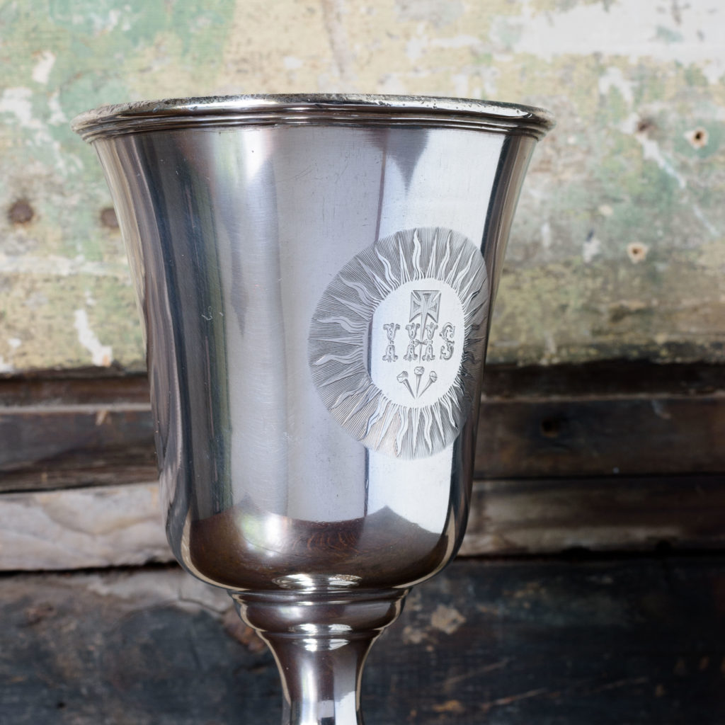 Late nineteenth century silver communion cup,-109622