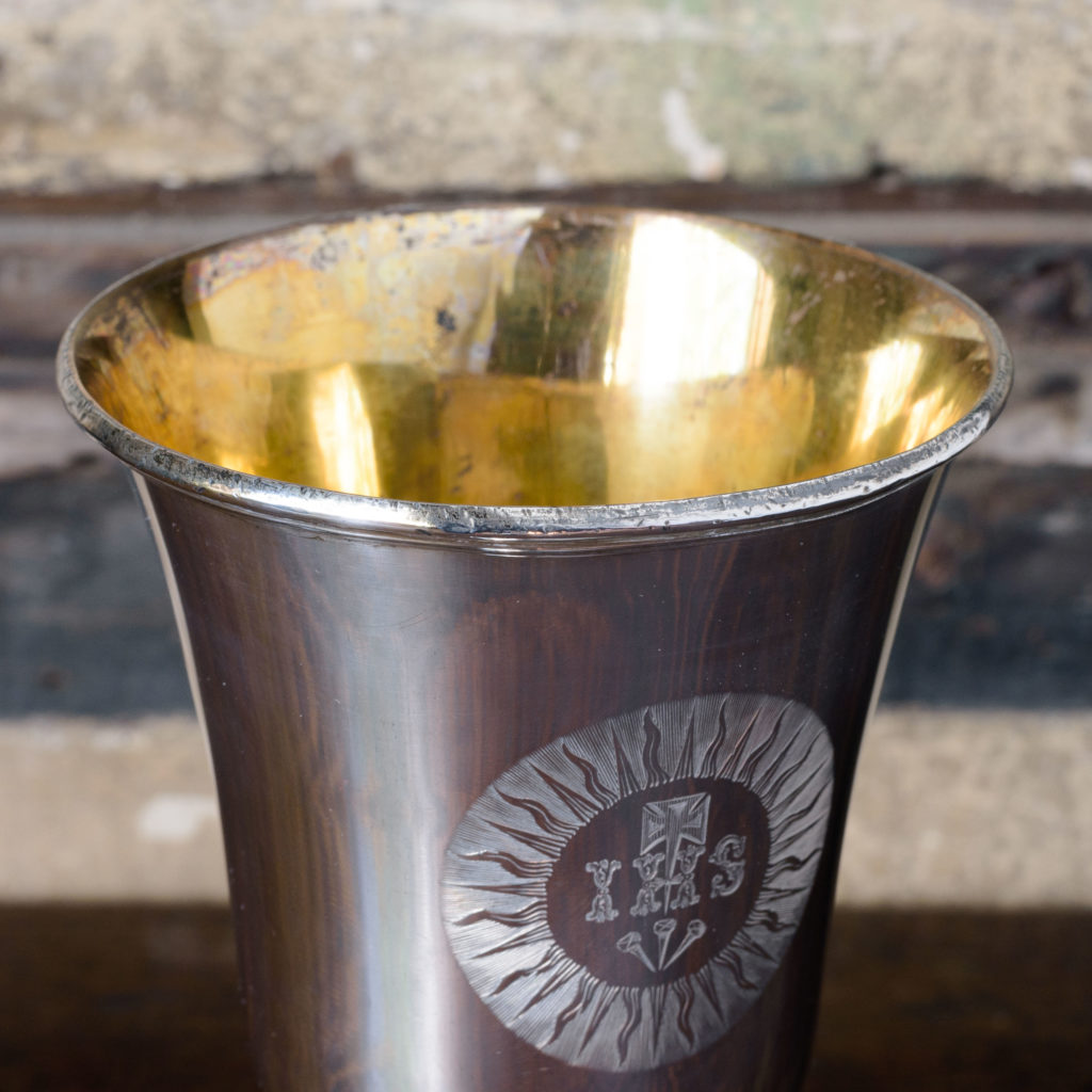 Late nineteenth century silver communion cup,-109624