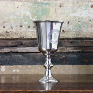 Late nineteenth century silver communion cup,-0