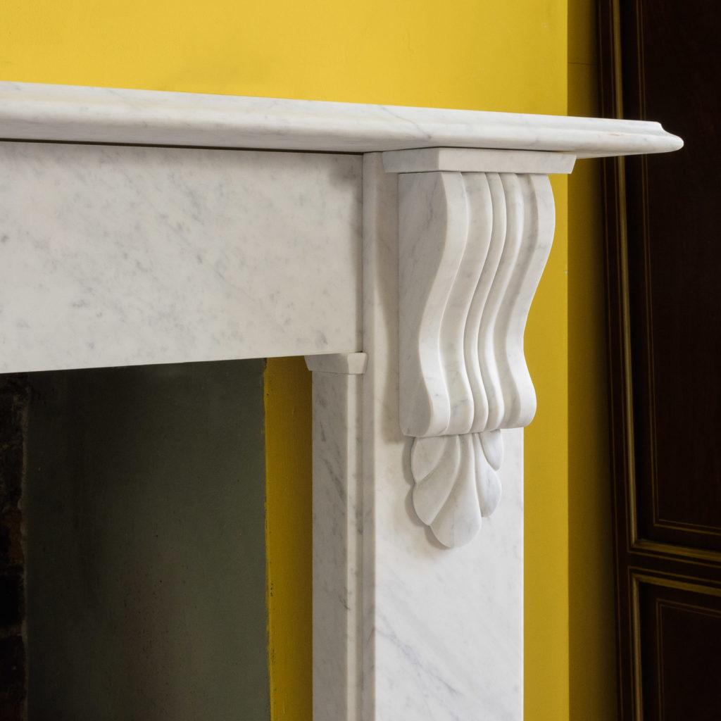 Victorian style Carrara marble chimneypiece,-109657