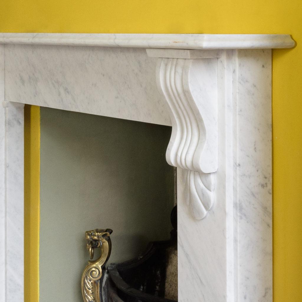 Victorian style Carrara marble chimneypiece,-109658