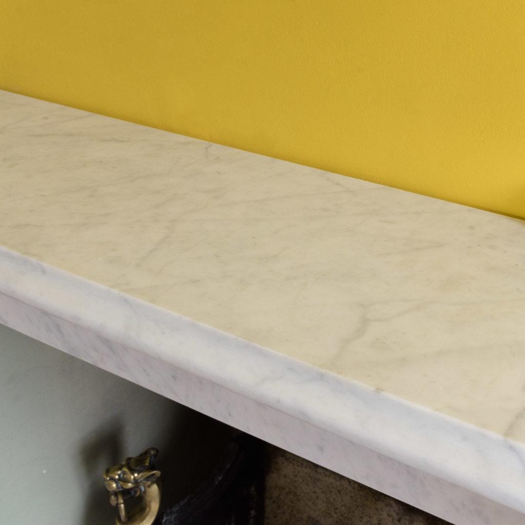 Victorian style Carrara marble chimneypiece,-109659