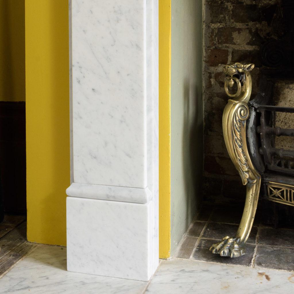 Victorian style Carrara marble chimneypiece,-109654