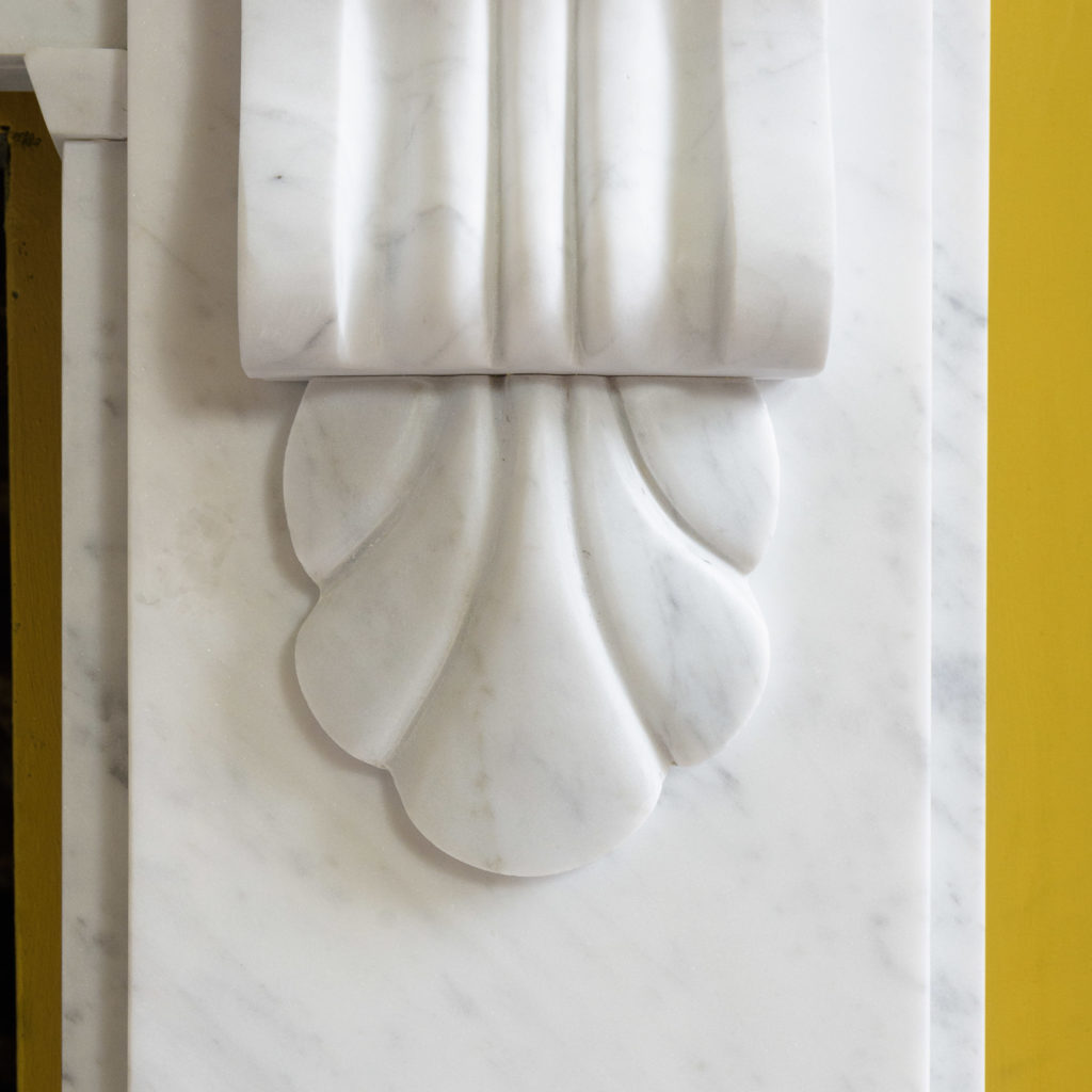 Victorian style Carrara marble chimneypiece,-109660