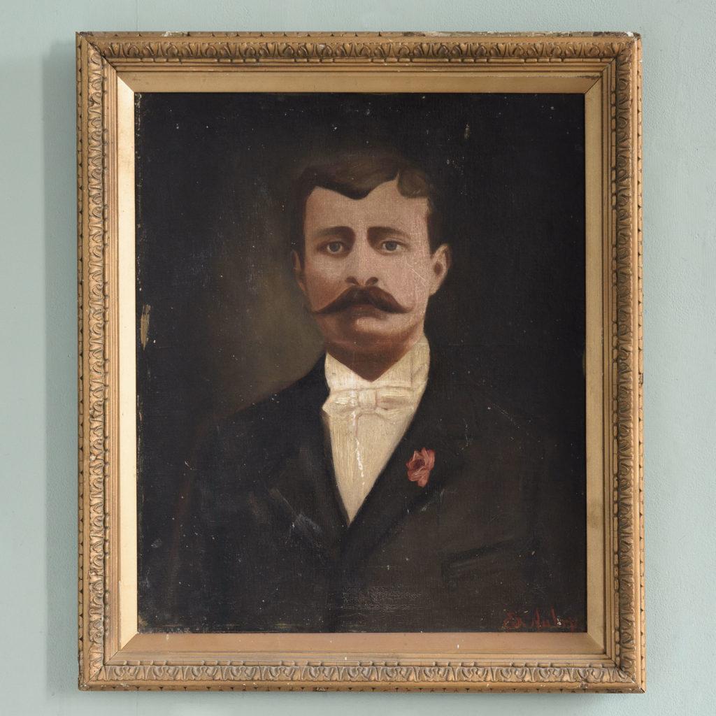 Portrait of a moustachioed gentleman-0