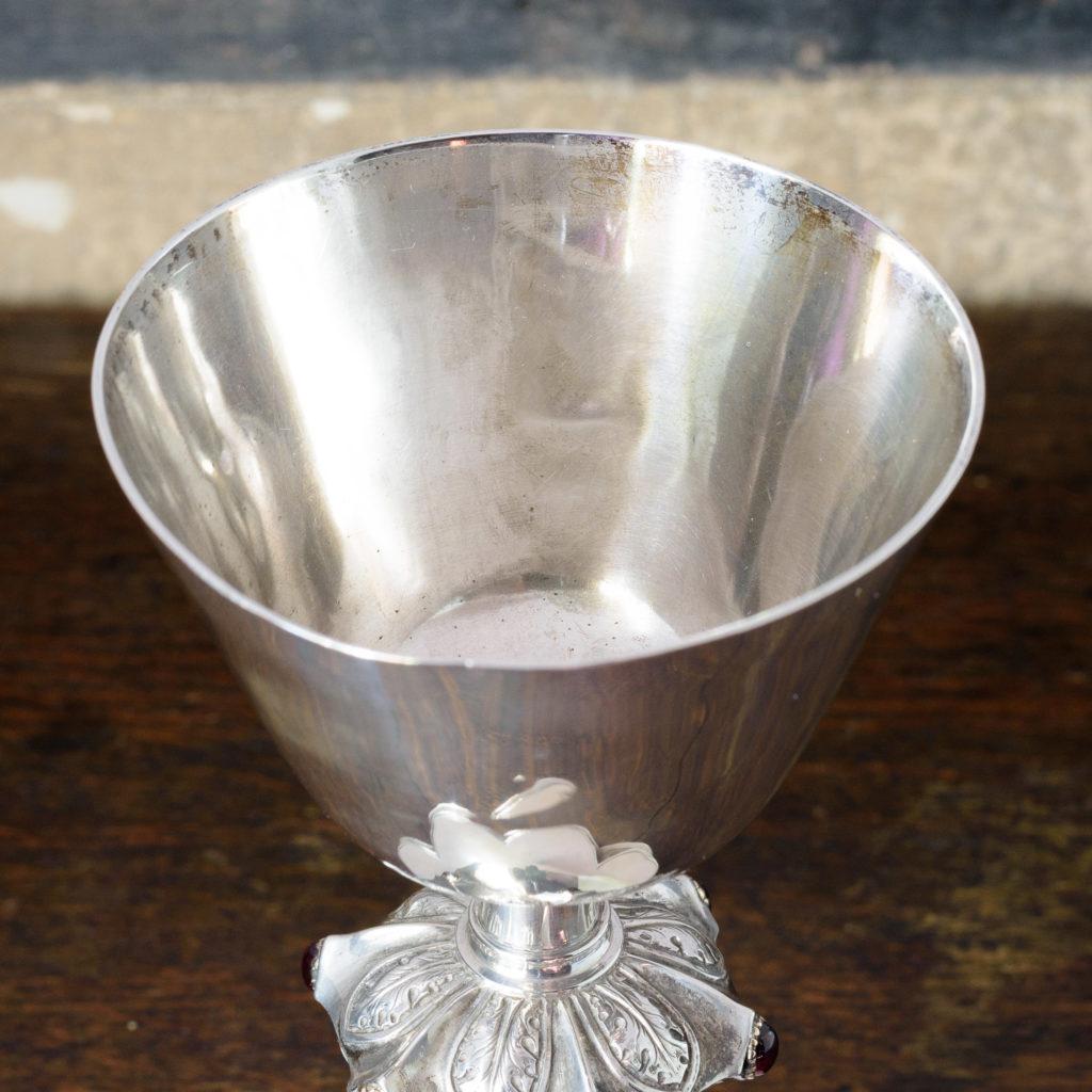 Silver communion chalice,-109999