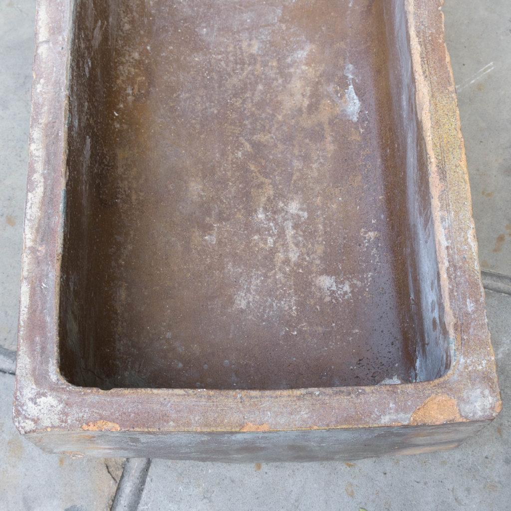 Salt glazed farm building water troughs,-109978