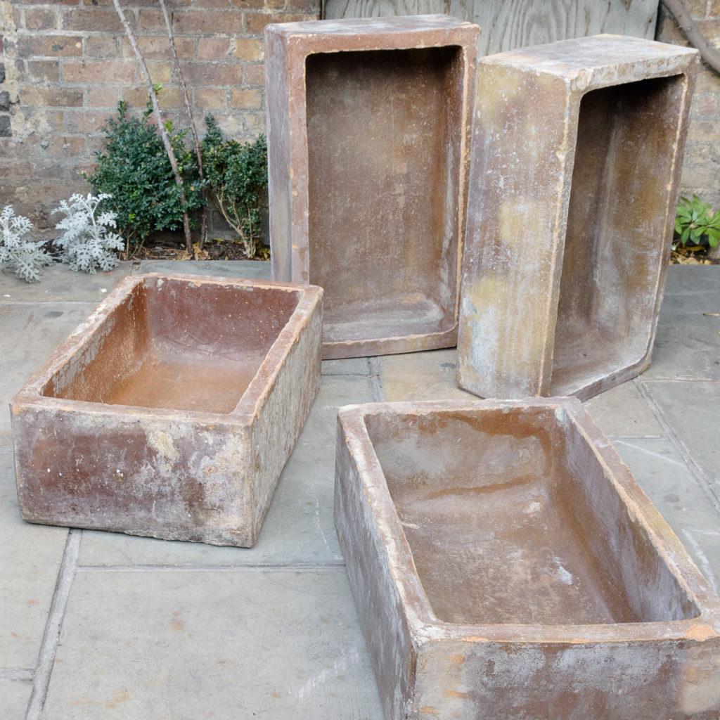 Salt glazed farm building water troughs,-109976