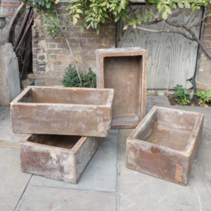 Salt glazed farm building water troughs,-0