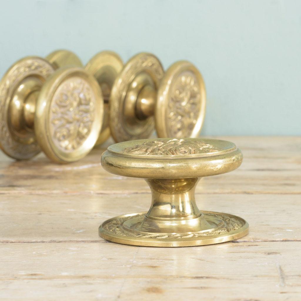Brass door bosses,-110565