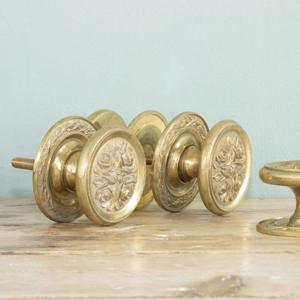Brass door bosses,-0