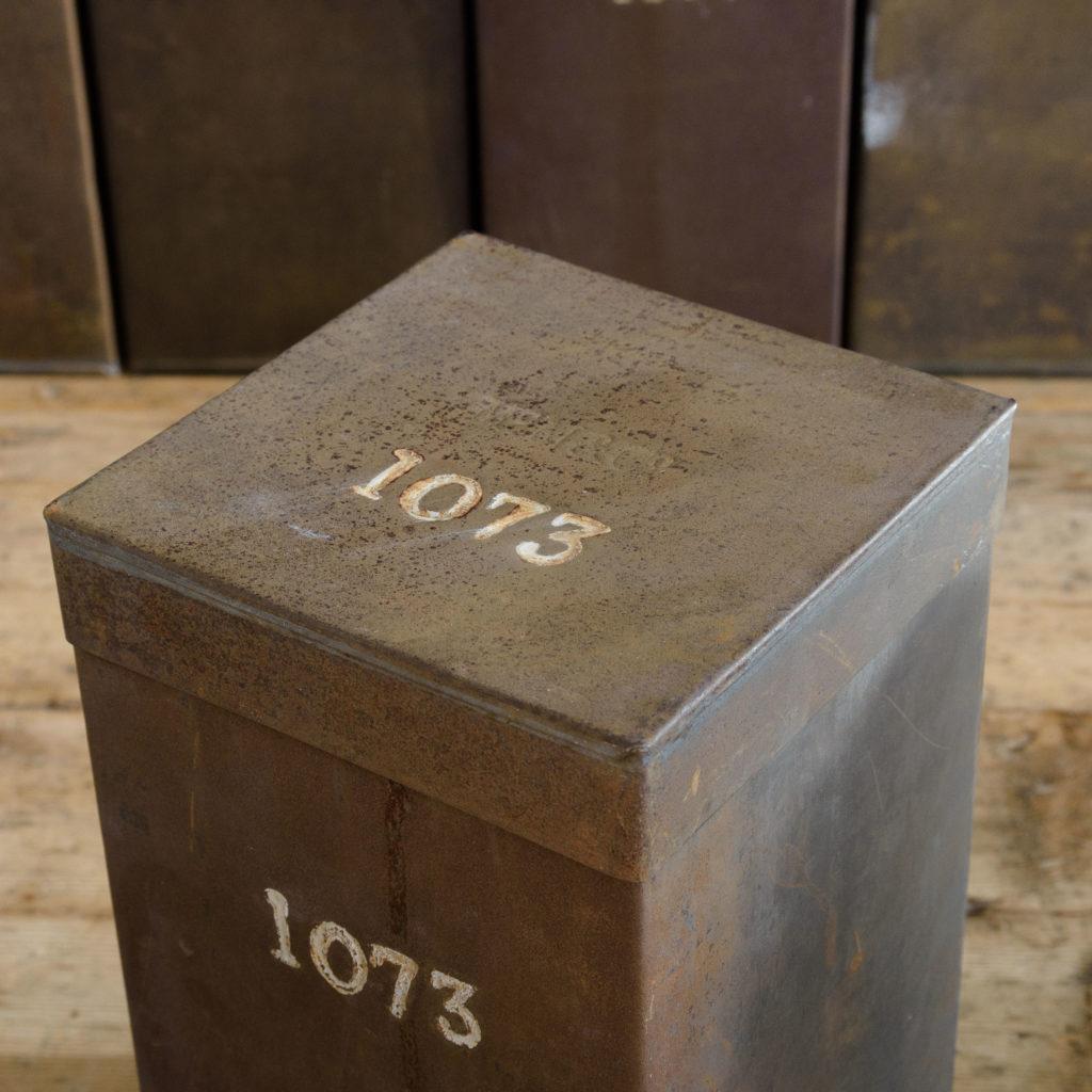 Hand numbered tea tins,-110266