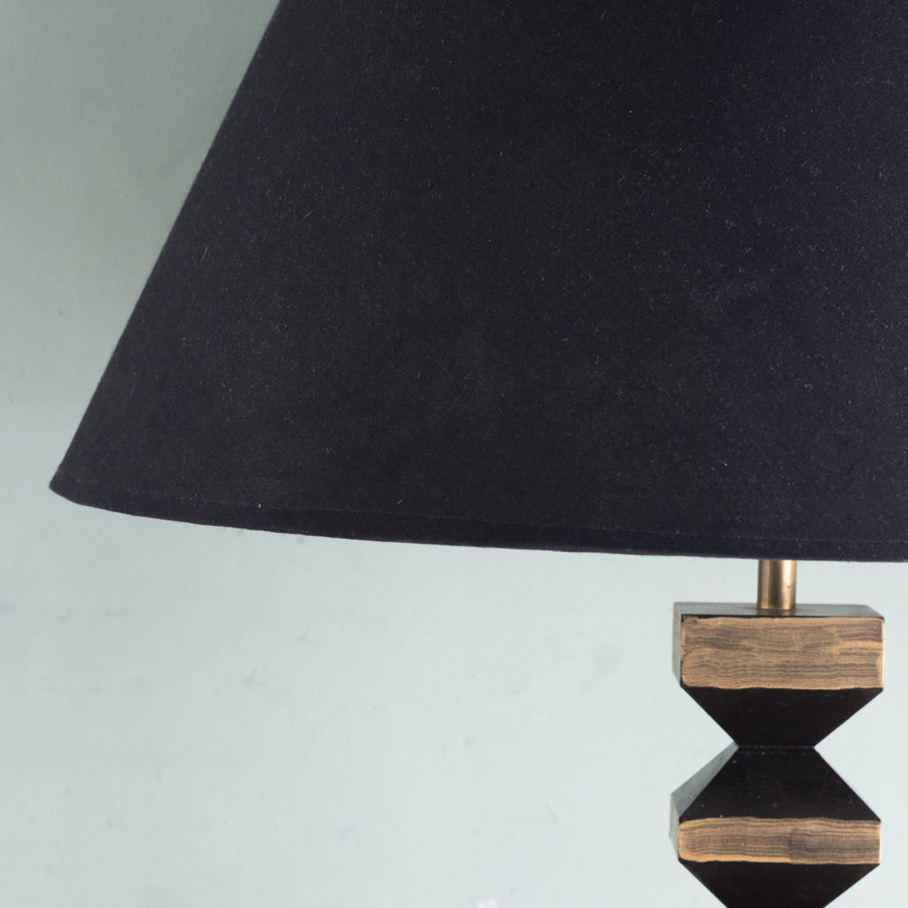 Pair of 1980s French 'totem' table lamps, -123284