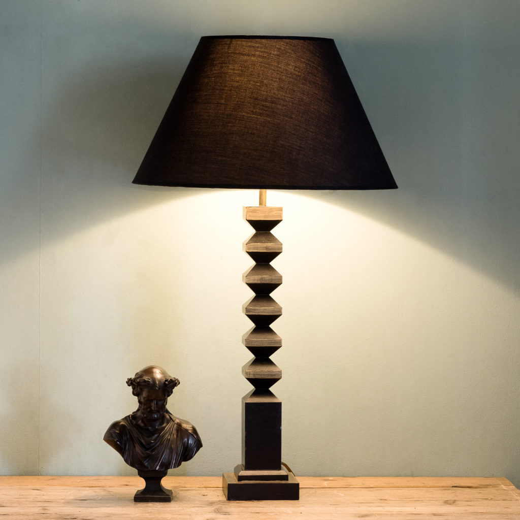 Pair of 1980s French 'totem' table lamps, -123283