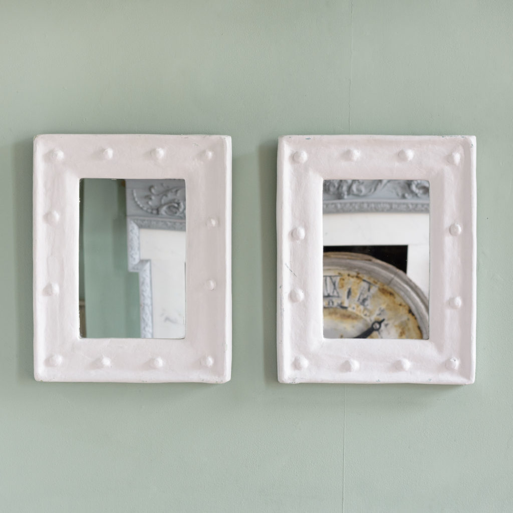Pair of French 1980s mirrors,-0
