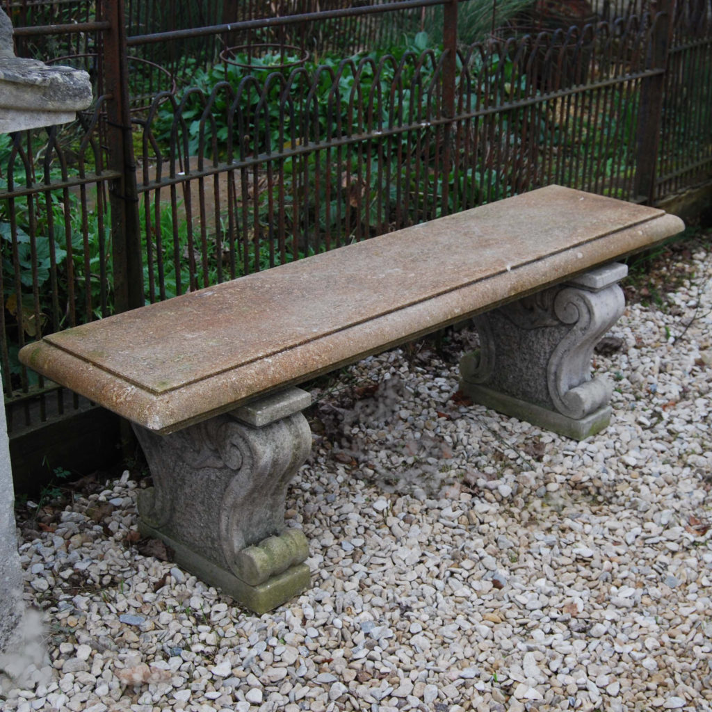 A carved Vicenza stone garden seat-0