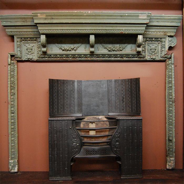 Carved chimneypiece
