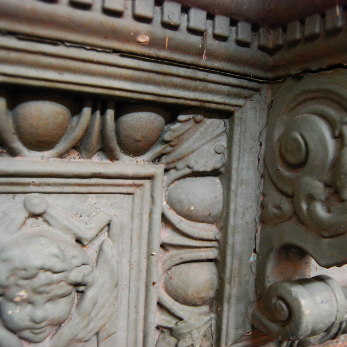 An Edwardian pine and composition fire surround,-111297