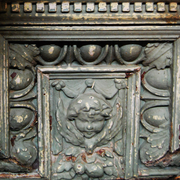 An Edwardian pine and composition fire surround,-111298