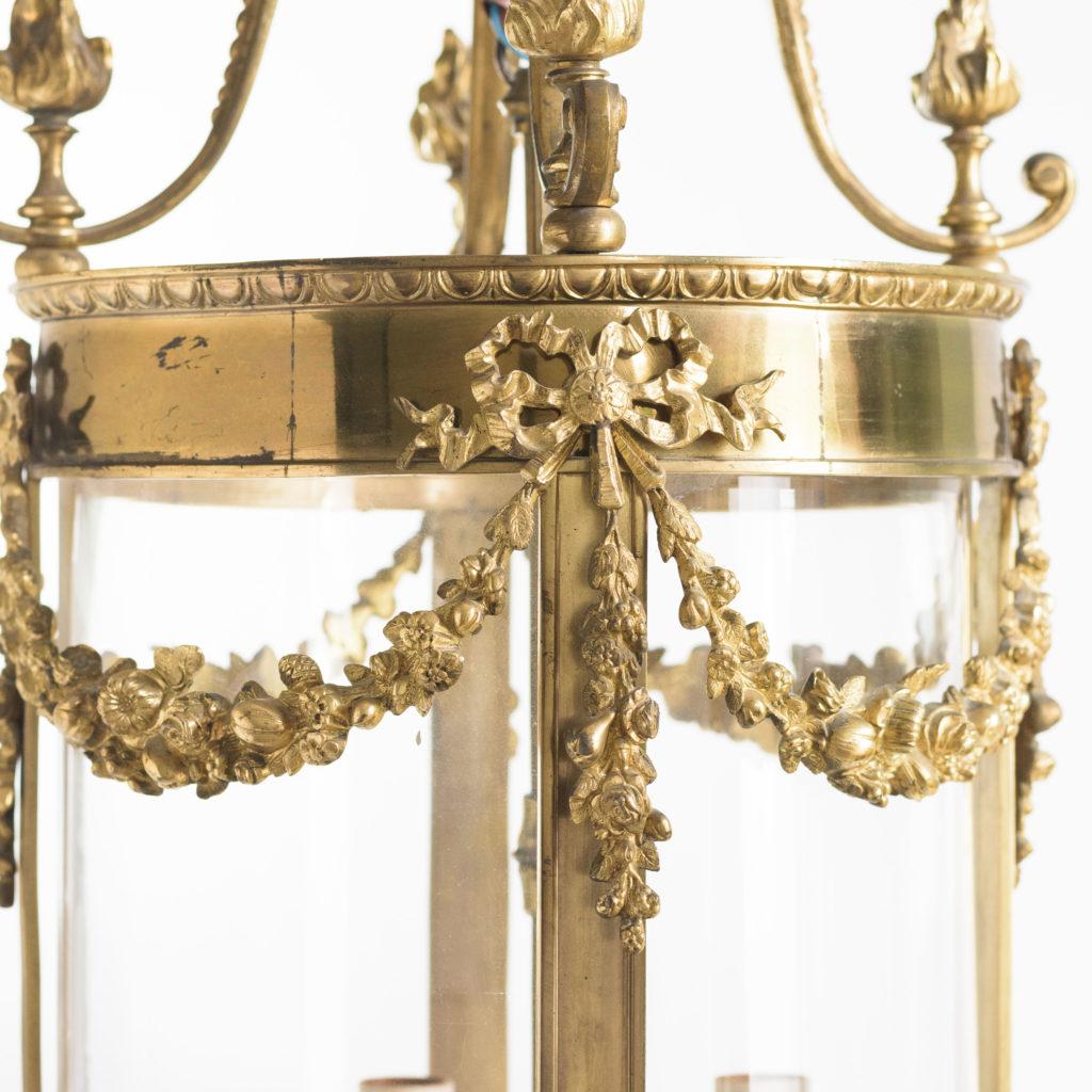 Louis XVI style brass lantern-111208