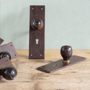 Ebony door mortice sets,-0