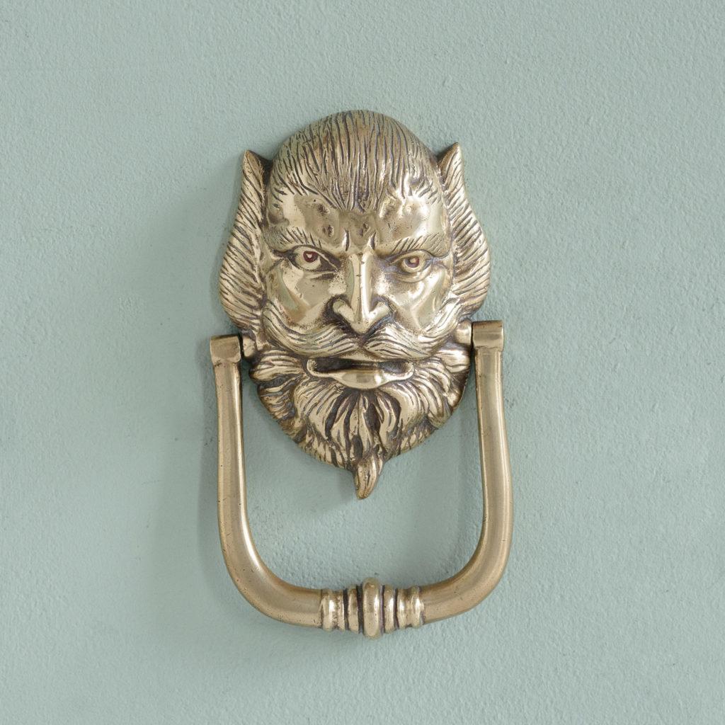 Brass door knocker,-0