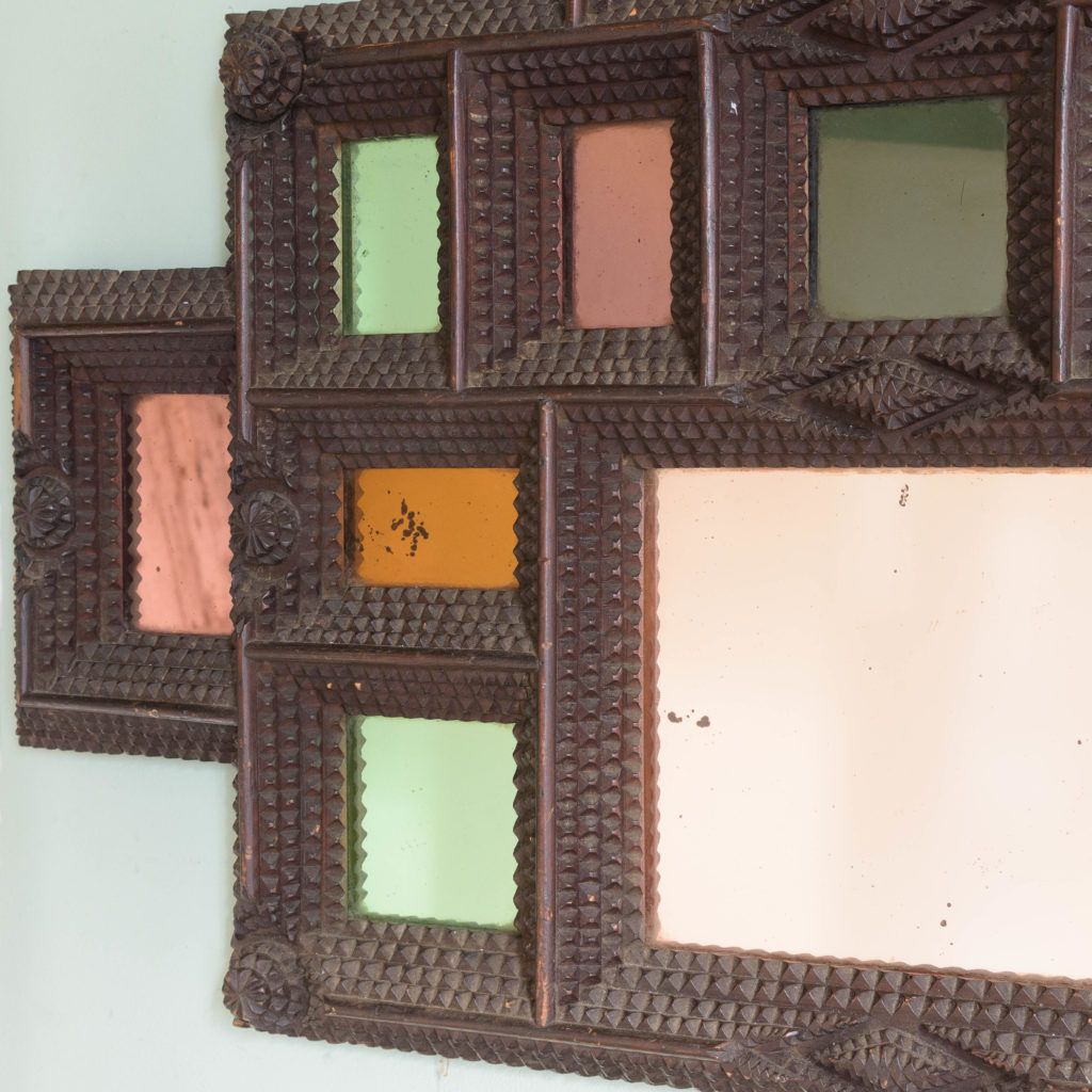 French tramp art frame,-110914