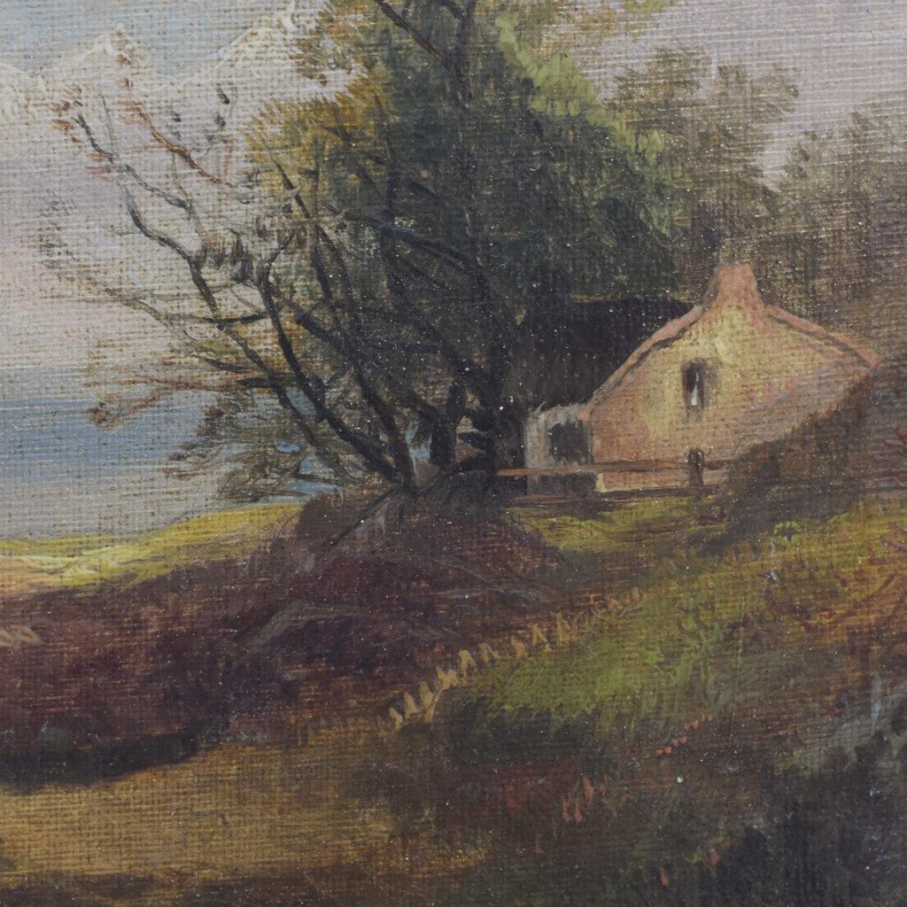 Nineteenth century pastoral scene,-111301