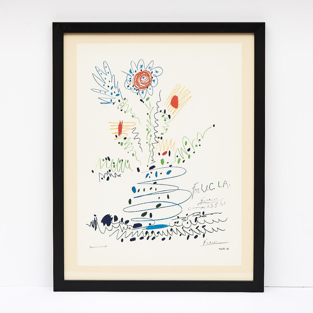 Original framed Picasso lithograph, -0