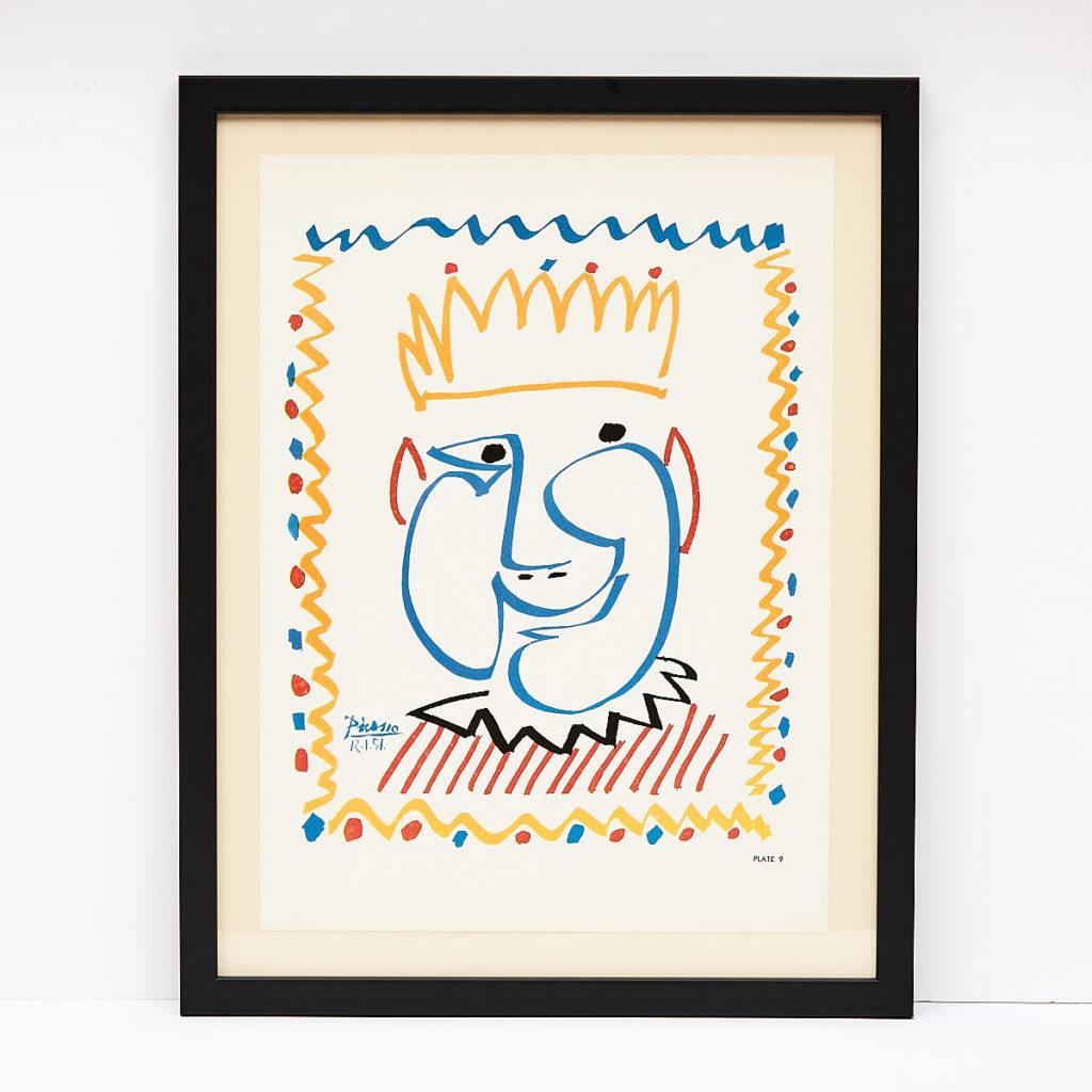 Original framed Picasso lithograph, -0
