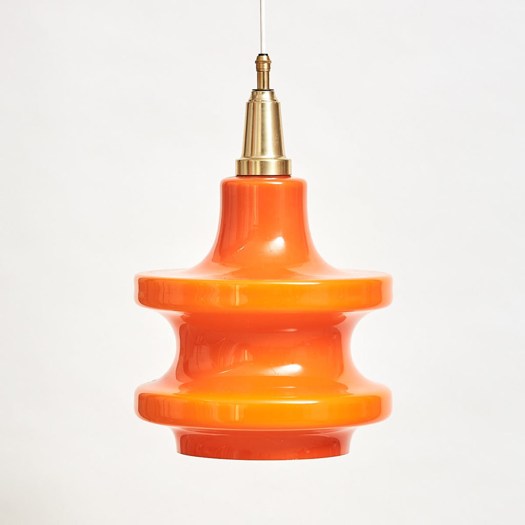 Dutch orange glass light,-0