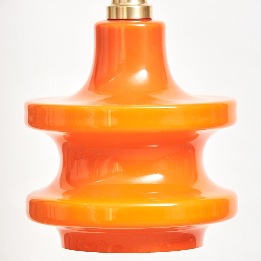 Dutch orange glass light,-111988