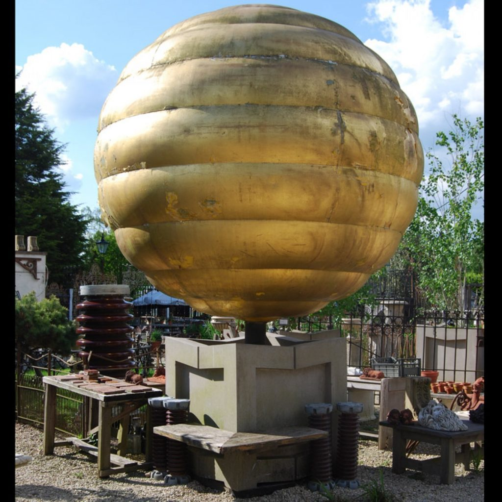 Giant Golden Globe Finial from Sea Containers House