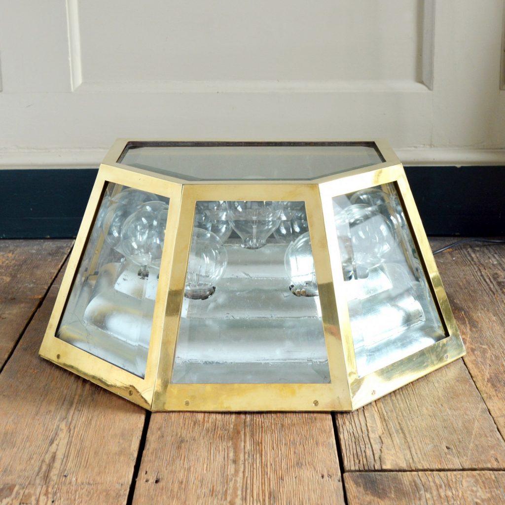 Warren Platner designed bronze lights